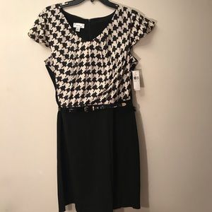 Women's houndstooth dress size 14 NWT